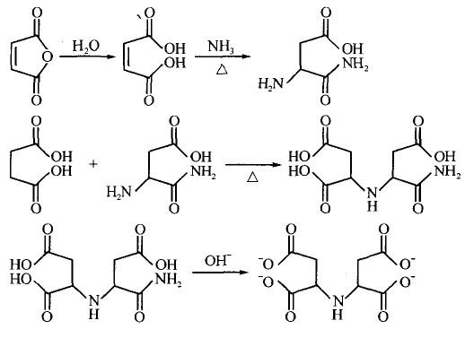 引 言 纺织品在进行染整加工时,水溶液中的Ca2+ 、Fe3+、Cu2+ 、Mg 2+等金属离子会对产品质量产生很大的影响。如在织物煮练时钙镁离子会与碳酸根离子等结合形成不溶性的钙镁盐沉积在织物上影响手感和白度;氧漂时铁离子等会加速双氧水的分解,造成织物漂白时局部过度氧化,从而强力下降甚至产生破洞;染色时 Ca2+、Mg2+等易引起染料凝聚,产生色点。因此在进行染整加工,都要加入适量螯合分散剂来螯合水溶液中的金属离子,以提高纺织品的加工质量。 多羧酸类的螯合剂如柠檬酸及乙二胺四乙酸(EDTA)等有很强的螯