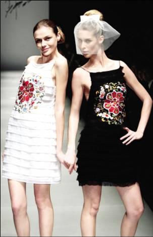 [服装设计]中国元素在西方服饰上的运用(图)